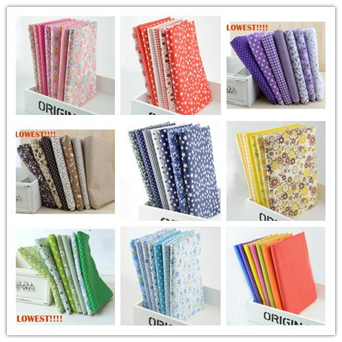 Booksew FREE SHIPPING 10 Sets lot 50cmx50cm Cotton Fabric Fat Quarters Bundle Quilting Patchwork Sewing Drapery