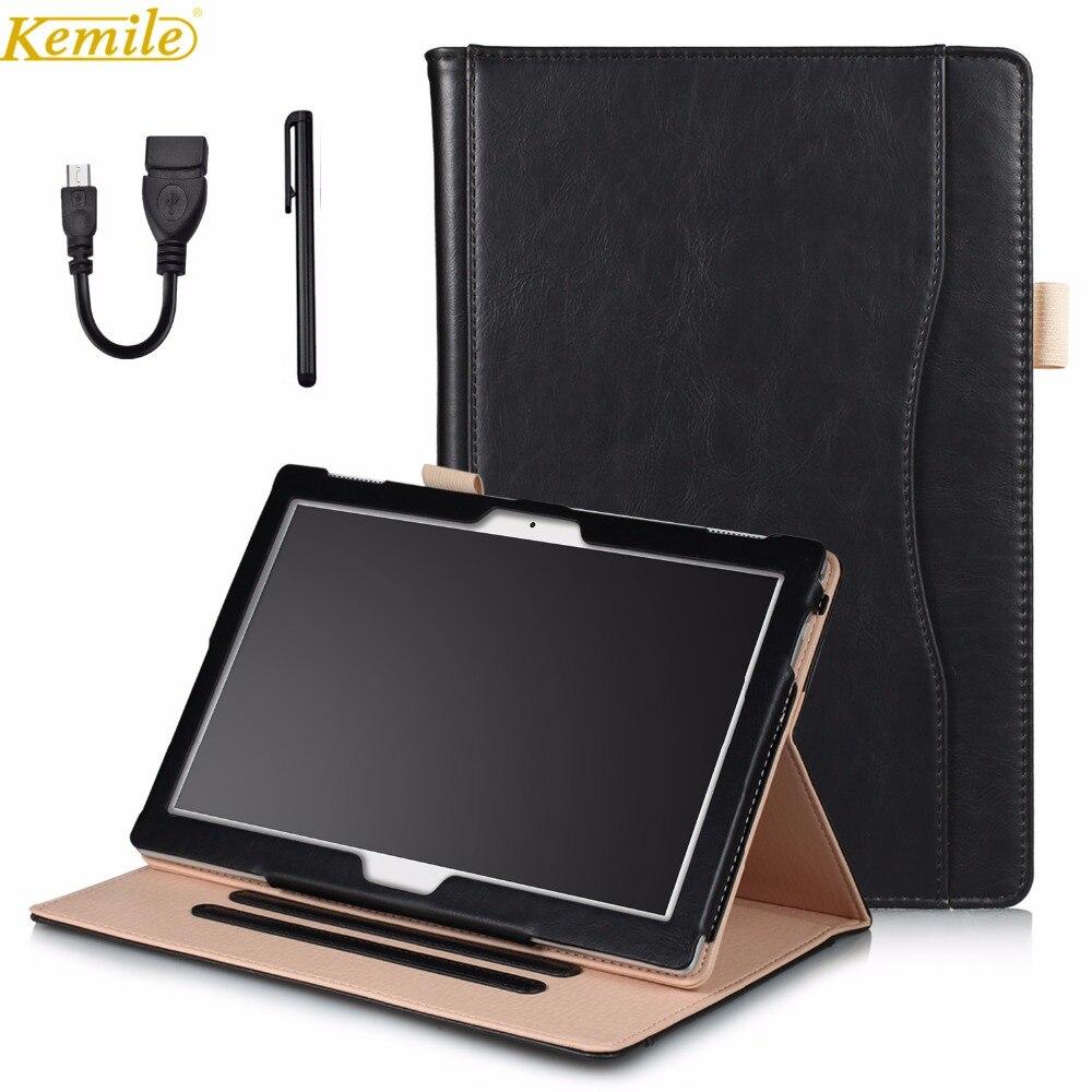 kemile Handheld Leather Flip Cover For Lenovo TAB4 Tab 4 10 TB-X304L TB-X304F/N /Tab4 10Plus TB-X704L TB-X704F/N Tablet ножницы для живой изгороди 10 truper tb 17 31476