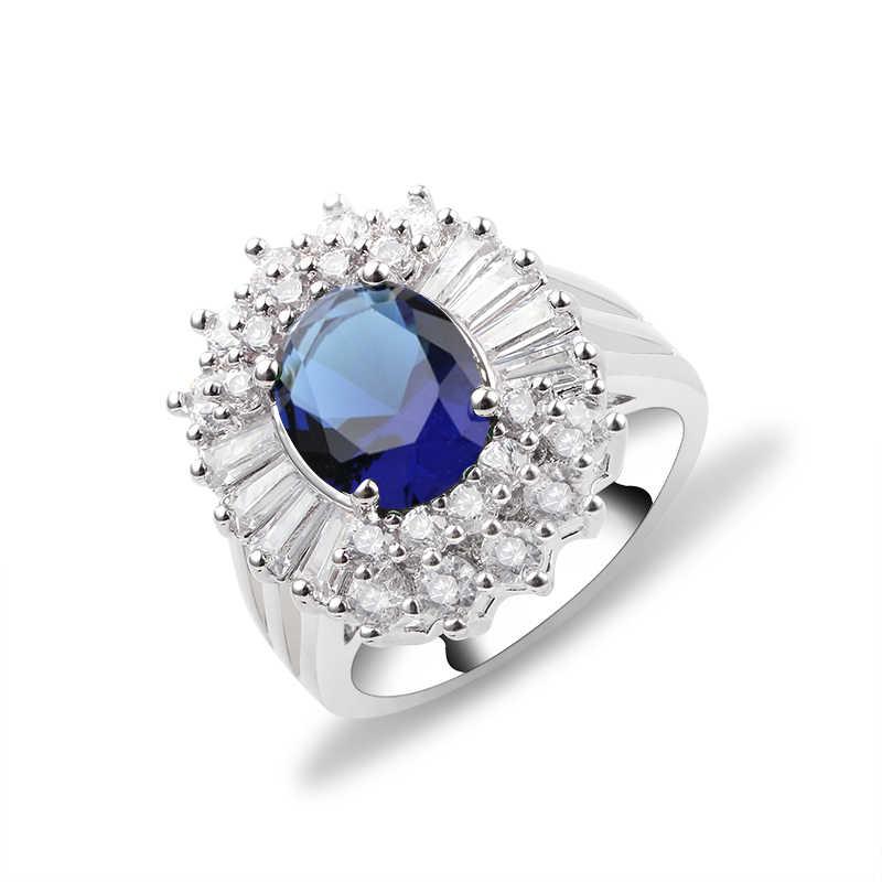 3 цвета, цветы, кольца на палец, ослепительное кольцо, зеленый, синий, розовый, золотое покрытие, ювелирные изделия, прозрачные CZ для женщин, свадебные anel anillos aneis