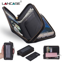 LANCASE For Samsung Galaxy S8 Case 2 In 1 Detachable PU Leather Wallet Case For Samsung