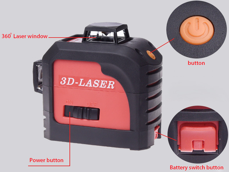 For Fukuda 12 Lines 3D Laser Level Self-Leveling 360 Horizontal And Vertical Cross Super Powerful Red Laser Beam Line (5)