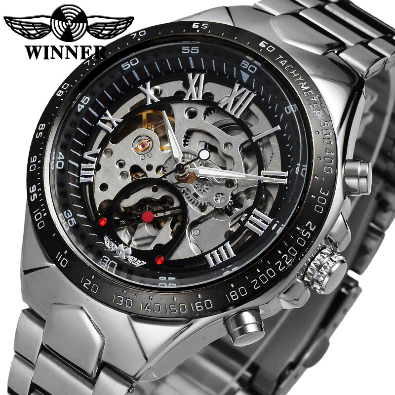 Winner New Number Sport Design Bezel Golden Watch Mens Watches Top Brand Luxury Montre Homme Clock Men Automatic Skeleton Watch forsining 3d skeleton twisting design golden movement inside transparent case mens watches top brand luxury automatic watches