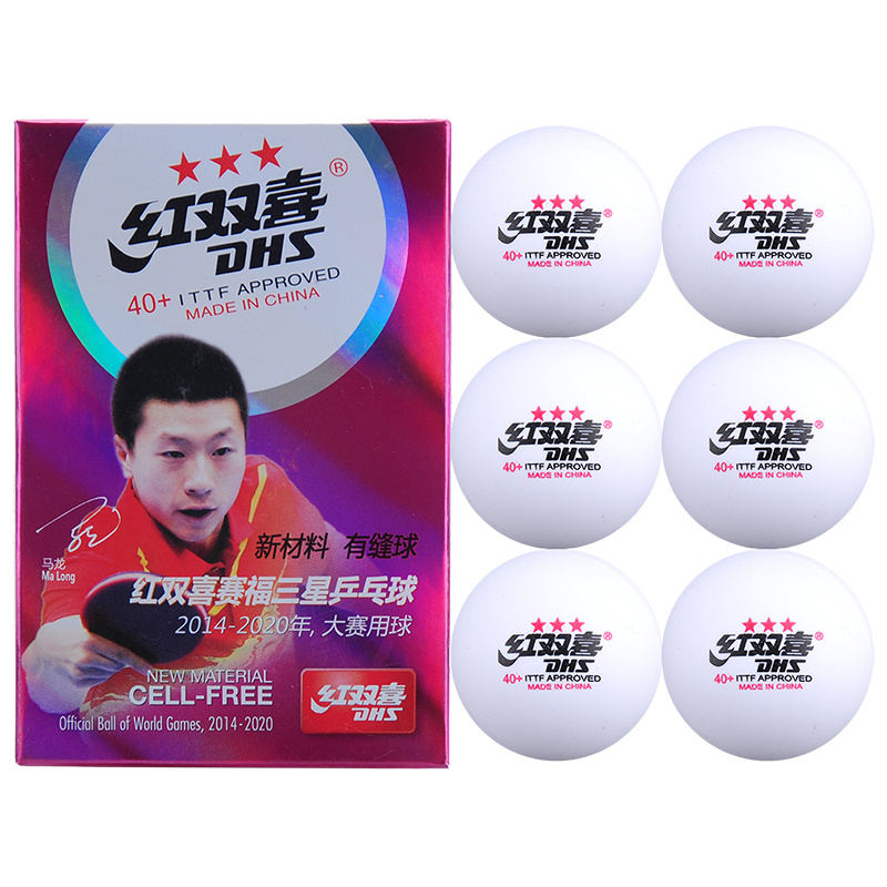 6 Balls/box Dhs 3 Star D40+ Table Tennis Balls New Material Plastic Poly Ping Pong Balls Ittf Approved Seam Professional Ball Strong Packing