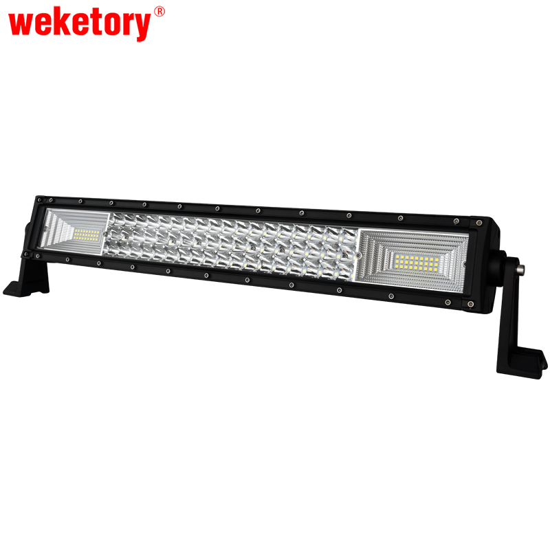 weketory 22 inch 3 Rows LED Work Light Bar for Tractor Boat OffRoad 4WD 4x4 Truck SUV ATV 12V 24v Actual Power 98W fukuda mw 99t 12lines 3d laser level self leveling 360 horizontal and vertical cross super powerful red laser beam line