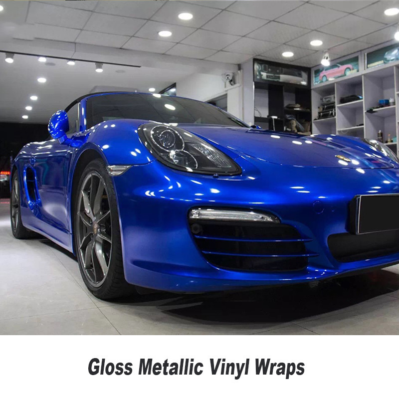 Pearl Gloss Metallic Blue Vinyl For Car Wrap Midnight Blue Glossy Film With Air Bubble Free Car Stickers Size:1.52*20M/Roll