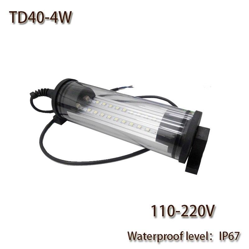 Professionelle Beleuchtung Hntd 4 W Ac 110 V/220 V Led Arbeit Licht Wasserdichte Ip67 Explosion-proof Td40 Led Panel Licht Für Cnc Maschine Werkzeuge Freies Verschiffen
