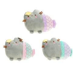 Милая кошка плюшевая игрушка животное улыбка толстый кот мини Русалочка плюшевая кукла для детей день рождения лучший подарок