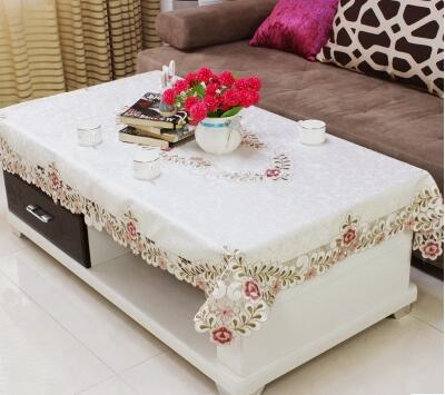 European Table Cloth Living Room Dining Rice Coffee Tablecloth Rectangular Lace Square