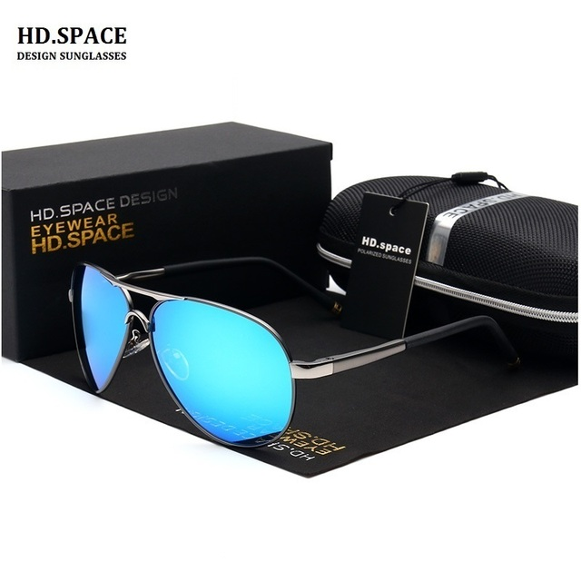 fde131a6838 HD.SPACE Design Men Polarized Sunglasses bright color Sunglasses driving  Glasses With Original Case