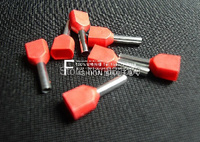 1000pcs Lot Free Shipping 18 AWG 1 0mm2 Pre Insulated Terminals Wire Ferrules End Sleeve TE1010