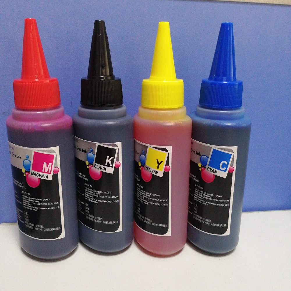 Sizzling Sale Common 4Color, 4X100Ml Premium Dye Ink For Canon Refill Cartridge And Ciss,free Delivery