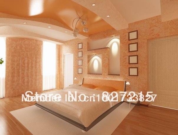 Probe für orange braun glänzend decken in wohnzimmer pvc spanndecken ...
