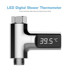 360 Degree Rotatable LED Display Water Temperature Thermometer Flow Manual Installation Bathroom Kitchen monitoring