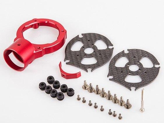 montagem do motor preto cor vermelha cnc30am