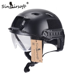 SINAIRSOFT FAST Helmet With Protective Gear Goggle BJ Type Tatical Military Airsoft Helmet Tactical Army Paintball Safety Helmet