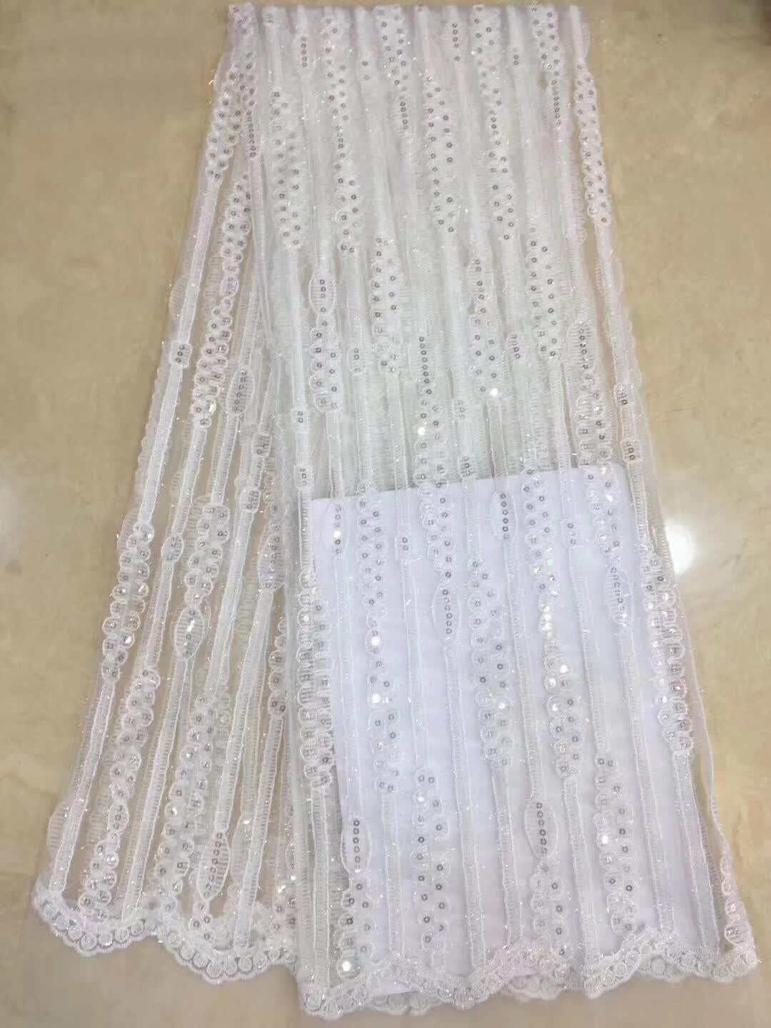 Newest Double color embroidery chemical guipure African lace fabric and Nigeria white color french net lace fabric for weddingNewest Double color embroidery chemical guipure African lace fabric and Nigeria white color french net lace fabric for wedding