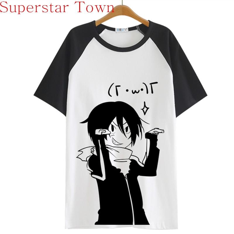 2016 Zomer Stijl Sudadera Anime Tops Tee Casaul Noragami T-shirt Vrouwen Japan Cool Kleding Patchwork Vrouwelijke Harajuku Shirt