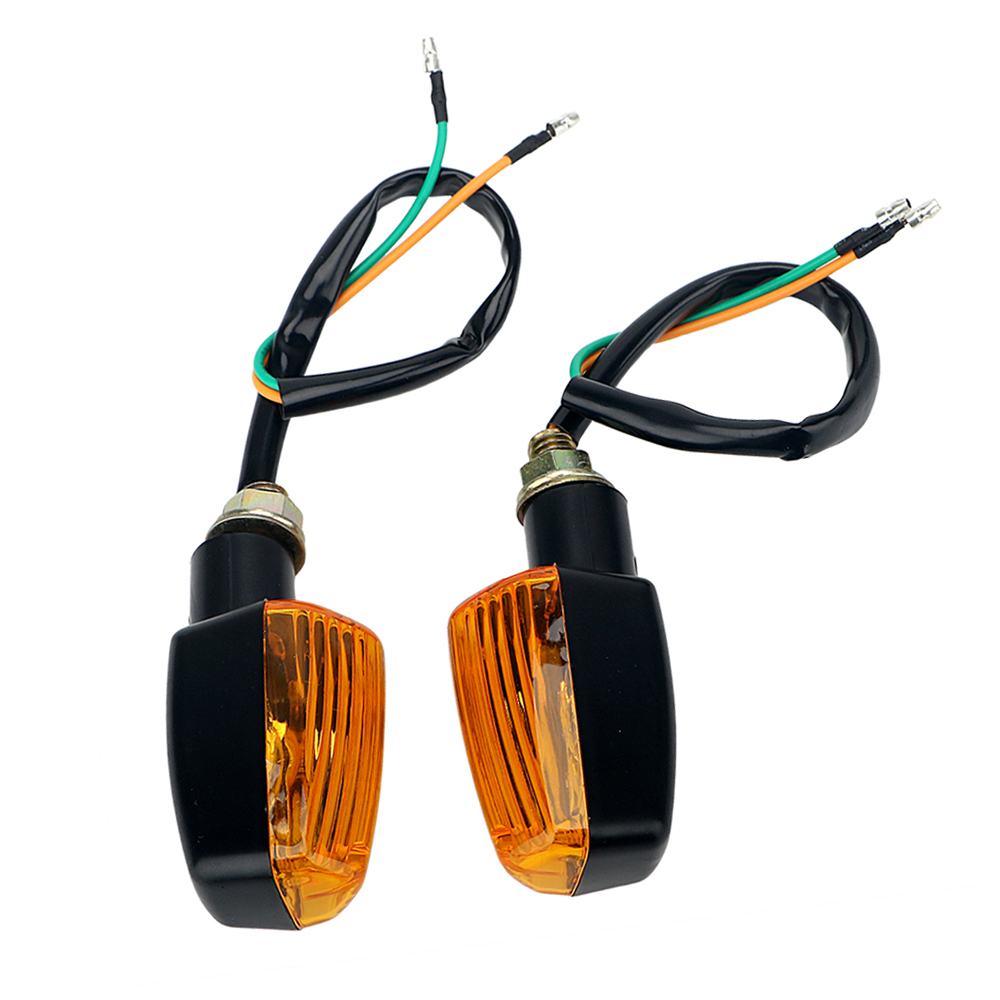 1 Pair Motorbike Indicator Light Amber Blinker Bulb Motor Accessories Motorcycle Flasher Universal LED Turn Signal Lamp