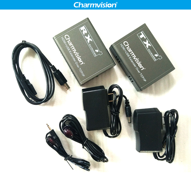 131e4f826fb Charmvision IP KVM-120HU 120m IP KVM USB HDMI Extender over TCP IP with IR  Remote LAN IP KVM extend USB wireless Mouse Keyboard