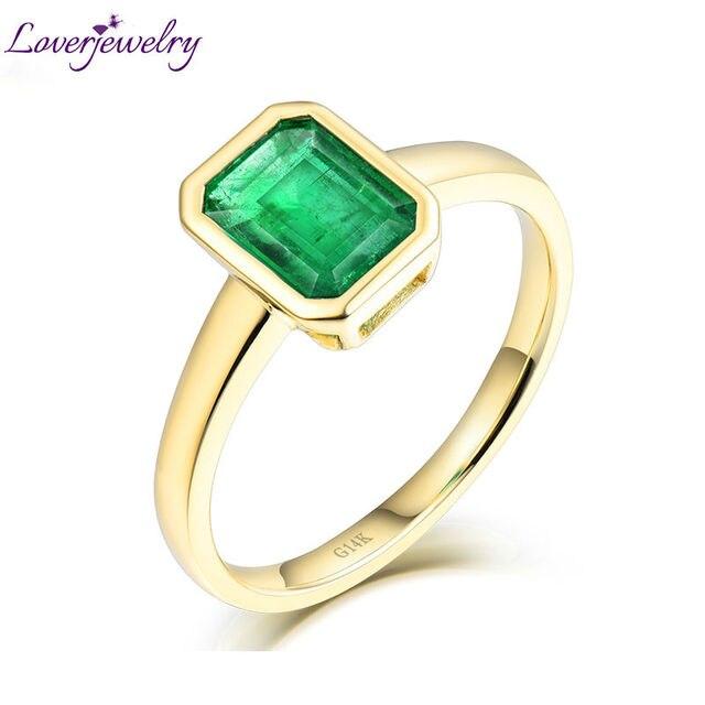 Loverjewlery Simple Design Wedding Fine Jewelry Solid 14Kt AU585