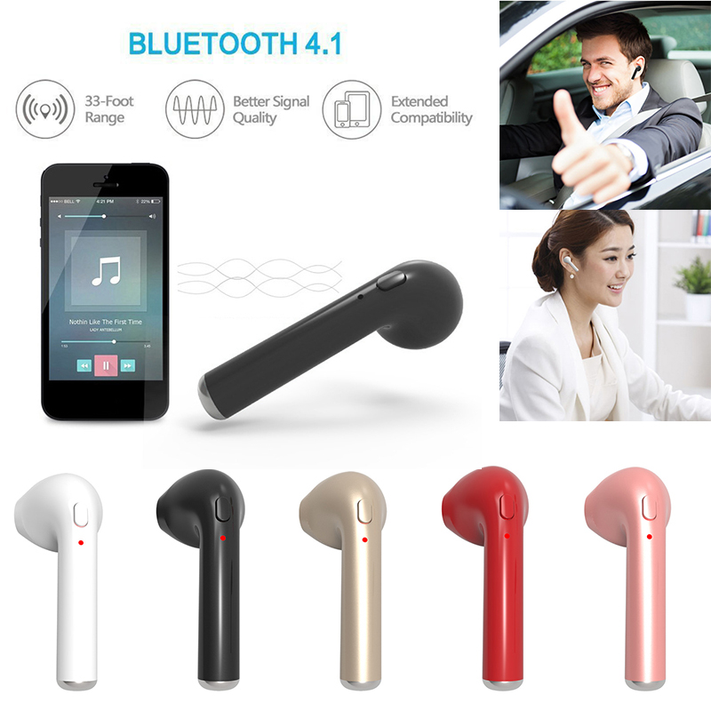 Mini Wireless Earphone Bluetooth 4.1 Right Ear Earphones Earbuds Wireless Headset With Microphone For IPhone Android Phone