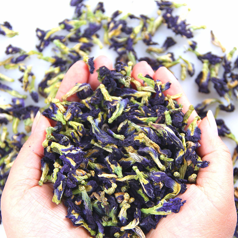 Simulation <font><b>Kitchen</b></font> <font><b>Toy</b></font> Thailand Blue Butterfly 25g 50g Clitoria Ternatea Blue Butterfly Thai Butterfly Pea Tea Vitamin A <font><b>Toy</b></font> image