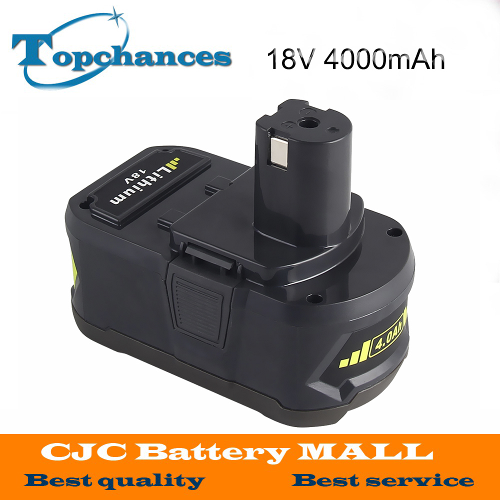 18V 4000mAh Li-Ion For Ryobi Hot P108 RB18L40 High Capacity Rechargeable Battery Pack Power Tool Battery for Ryobi for ONE+ 2pcs 18v 4000mah li ion high capacity for ryobi p108 rb18l40 rechargeable battery pack power tool battery for ryobi for one