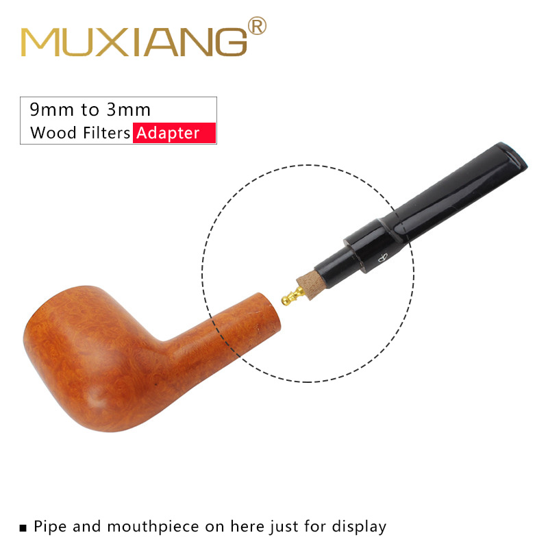 RU-MUXIANG 3/ 5/10 Pcs/lot Wood 9mm To 3mm Metal Filter Adapter Smoking Pipe Accessories Filter Changer Fg0011