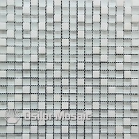 Free shipping white glass and stone mosaic tile for bathroom and kitchen backsplash wall tile