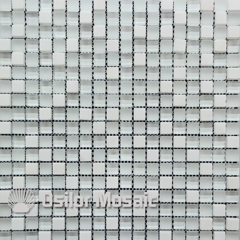 Piastrelle A Mosaico Per Bagno us $269.0  trasporto libero bianco di vetro e pietra mattonelle di mosaico  per bagno e cucina backsplash piastrelle a parete stone tile stone wall