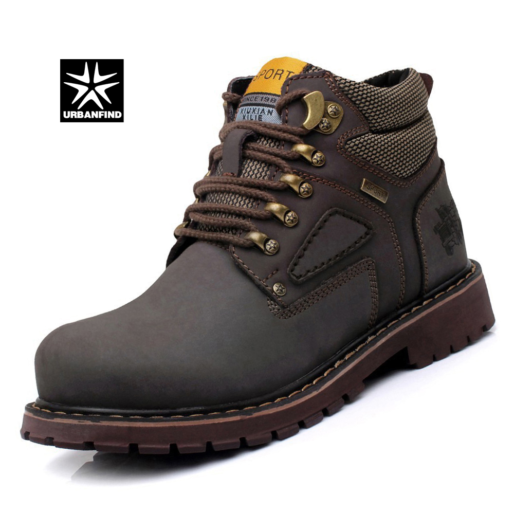 Urbanfind Brown Brown Cheville Brun jaune En Nubuck Yellow Homme 44 Semelle Durable Caoutchouc Chaussures Cuir up Gold Dentelle Ue Hommes 38 light Bottes dark g1gqFr