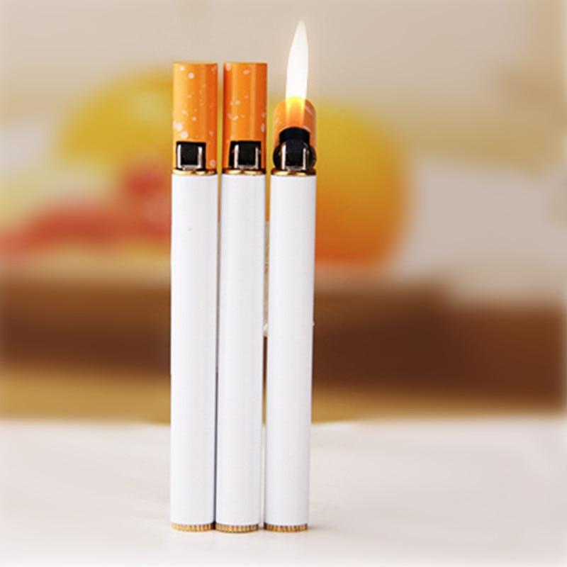 Style Refillable Butane Gas Lighters Slim Mini Shape Novelty Lighter