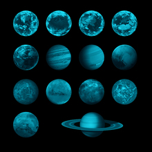 1pcs 3D Planet Earth Fluorescent Wall Sticker Removable Glow In The Dark Creative Decals 2018 New for kids Room