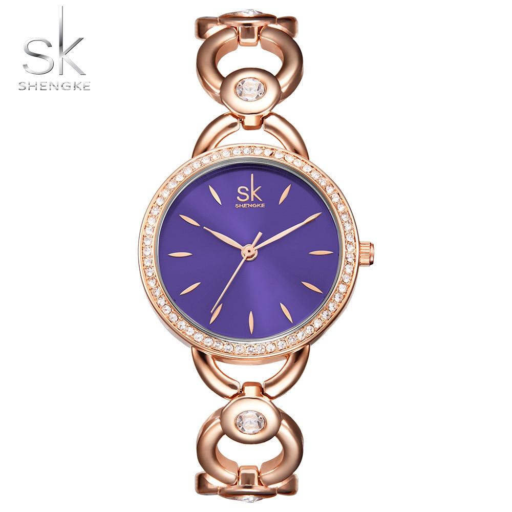 Shengke Luxury Women Watch Famous Milan Fashion Creative Bracelet Watch Ladies Sapphire blue Wrist Watches Relogio Femininos SK