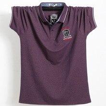 Polo-Shirt Short-Sleeve Business Plus-Size Men Casual 95%Cotton 4XL Fat 5XL 6XL Guy Corlorful