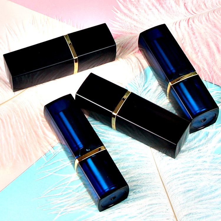 10/20/50PCS 12.1mm Square Blue/Black Lipstick Pipe Shell DIY Empty Makeup Package Bottle Lip Balm Tube Refillable Container New цена
