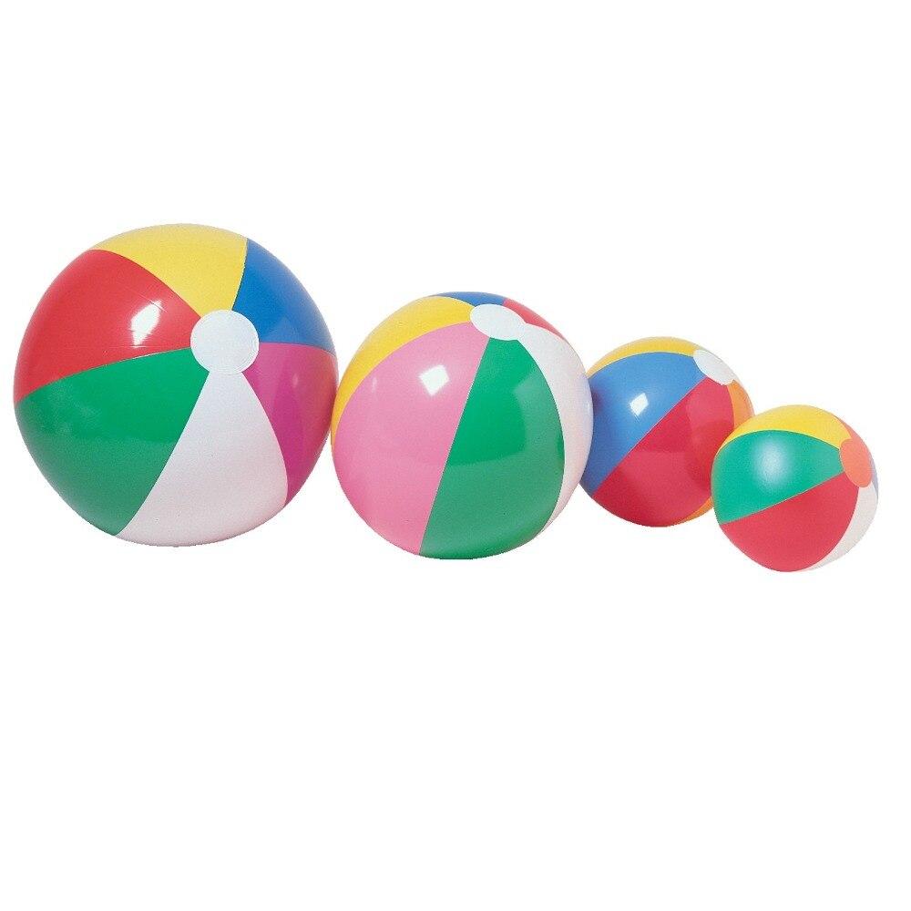 Открытый весело мяч красочные надувные пляжный мяч завышенным Пластик мяч для детей Бассейны игровой реквизит воды