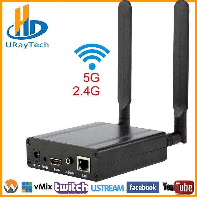 MPEG4/H.264 AVC WI-FI HDMI декодер потокового вещания WI-FI передатчик HDMI Live широковещательный кодер Беспроводной H264 кодирующее устройство телевидения ...