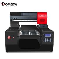 DOMSEM A3 плюс УФ планшетный струйный принтер 3D текстурированная поднятый рельефная печатная машина A3 обновленная версия принтер для чехол для