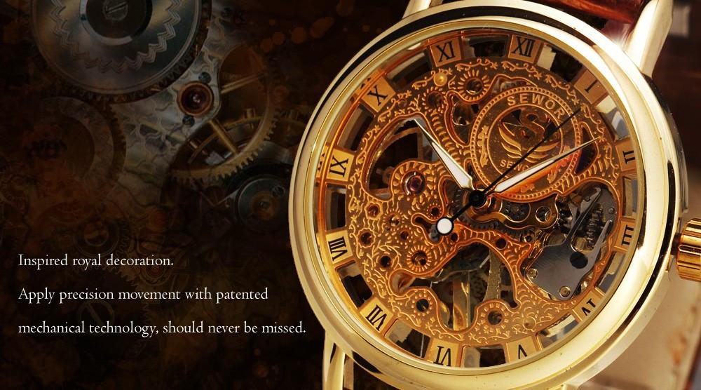 HTB1YzVvNVXXXXcKapXXq6xXFXXXW - SEWOR Casual Fashion Skeleton Watch for Men
