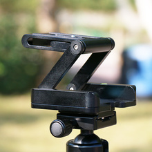 Aluminum Z Type Foldable Camera font b Tripod b font Head Flexible Z Pan Quick Release