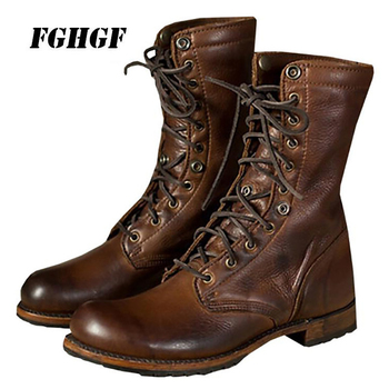 Motorcycle boots Autumn and winter fashion men's boots and shoes Knight boots Short boots sexy personality Big size 38 to 48