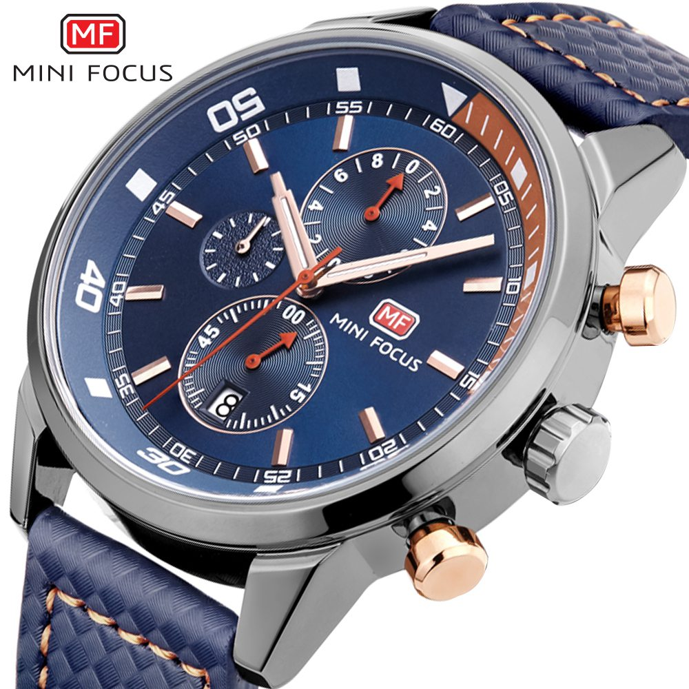 MINIFOCUS Top Fashion Quartz Wrist Watch 2019 Famous Brand Luxury Men