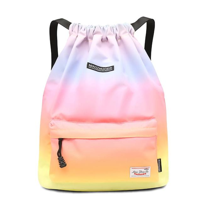 Bag  Summer Waterproof Gym Bag Sports Bag Travel Drawstring Bag Outdoor Bag Backpack for Training Swimming Fitness Bags Softback 1