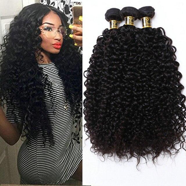 Yavida מלזי שיער קינקי מתולתל תוספות שיער טבעי אריגת חבילות צבע טבעי 1/3 חתיכה 100G ללא רמי מתולתל שיער חבילות