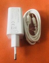 """מקורי 2.0A נסיעות מטען האיחוד האירופי תקע מתאם + כבל USB עבור Oukitel K10000 פרו MTK6750T 5.5 """"FHD משלוח חינם"""