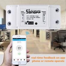 1 шт. SONOFF базовый беспроводной Wifi переключатель пульт дистанционного управления автоматический модуль DIY таймер Универсальный умный дом 10A 220 В AC 90-250 В