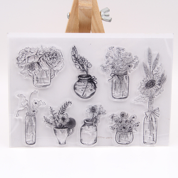ZFPARTY Flower Vase Transparent Clear Silicone Stamp/Seal for DIY scrapbooking/photo album Decorative Card Making 1