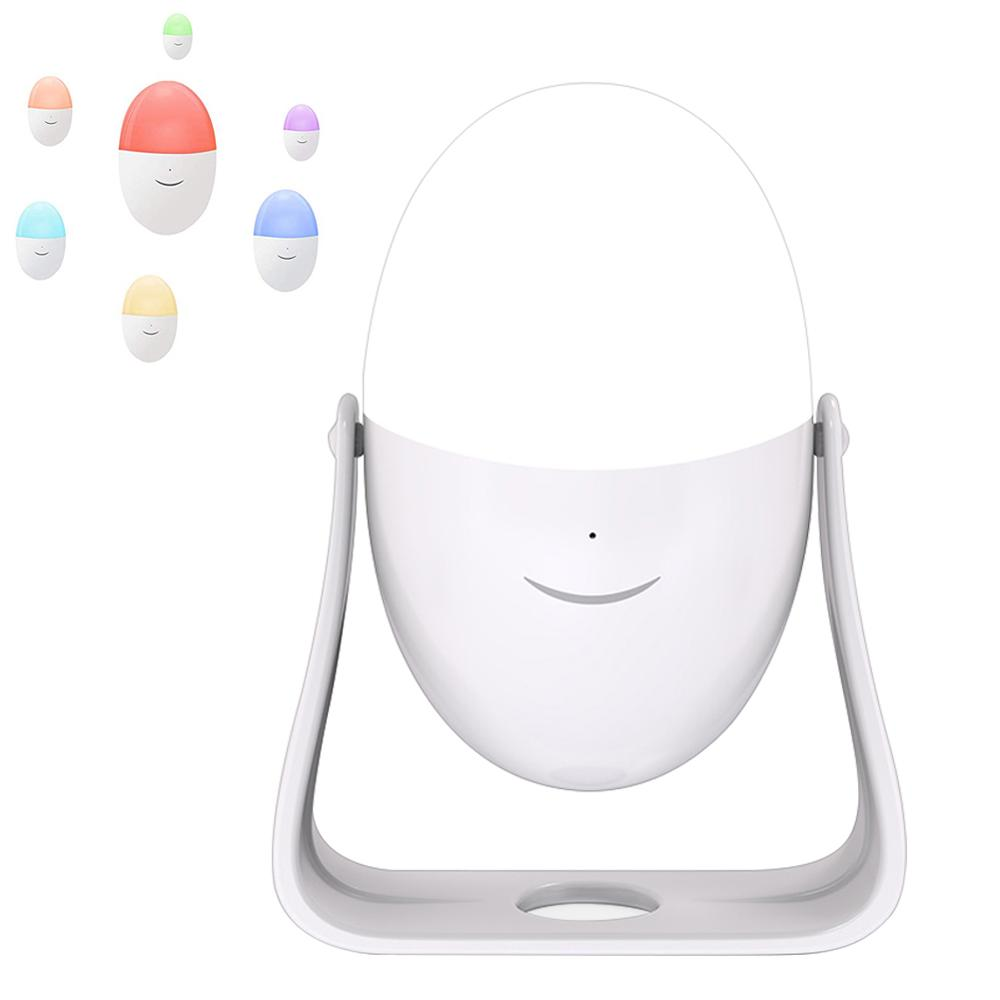 LED Night Light Shake Touch Control Rechargeable Egg LED Night Light RGB Color Changing LED Light 4 Lighting Modes For Indoor