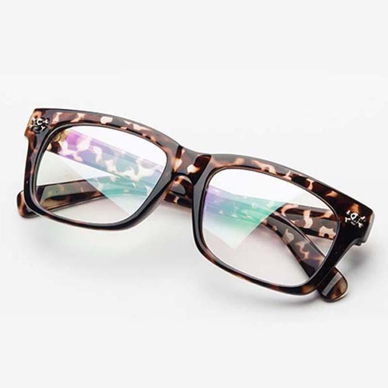 Terminado miopía leopardo cráneo marco negro azul lente miope gafas ...